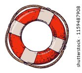 lifebuoy on white background ... | Shutterstock . vector #1159487908