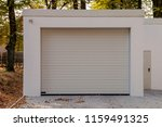 modern new white garage with... | Shutterstock . vector #1159491325