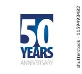 50 years anniversary blue white ... | Shutterstock .eps vector #1159493482