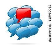 social media concept   speech... | Shutterstock .eps vector #115950052