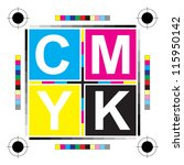 cmyk letters   Shutterstock .eps vector #115950142