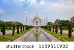 taj mahal front view reflected... | Shutterstock . vector #1159511932