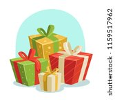 set of gift boxes vector | Shutterstock .eps vector #1159517962