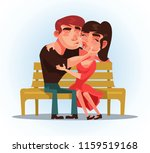 two people man and woman... | Shutterstock .eps vector #1159519168