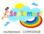 september 1.  vector... | Shutterstock .eps vector #1159523428