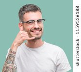 young tattooed adult man... | Shutterstock . vector #1159526188