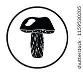 mushroom  icon. thin circle...   Shutterstock .eps vector #1159530205