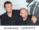 Small photo of BERLIN, GERMANY - SEPTEMBER 11: Actor Liam Neeson and director Olivier Megaton attend the '96 Hours- Taken 2' Germany Premiere at Kino in der Kulturbrauerei on September 11, 2012 in Berlin, Germany.