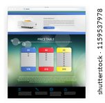 main web page template with... | Shutterstock .eps vector #1159537978