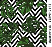 tropical print. jungle seamless ... | Shutterstock .eps vector #1159541695