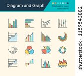 diagram and graph icons. filled ... | Shutterstock .eps vector #1159543882