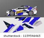car wrap graphic racing... | Shutterstock .eps vector #1159546465