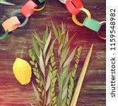 jewish festival of sukkot....   Shutterstock . vector #1159548982