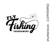 fly fishing tournament. hand... | Shutterstock .eps vector #1159550902