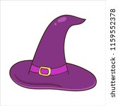 halloween magic witch hat.... | Shutterstock .eps vector #1159552378