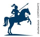 knight on horseback on a white... | Shutterstock .eps vector #1159554472