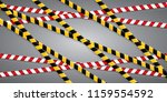 caution lines isolated. warning ... | Shutterstock .eps vector #1159554592