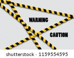 caution lines isolated. warning ...   Shutterstock .eps vector #1159554595