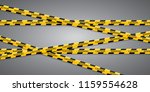 caution lines isolated. warning ... | Shutterstock .eps vector #1159554628