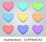candy sweet hearts. love... | Shutterstock .eps vector #1159560142