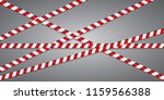 red and white lines of barrier... | Shutterstock .eps vector #1159566388