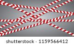 red and white lines of barrier... | Shutterstock .eps vector #1159566412
