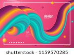 fluid colorful shapes... | Shutterstock .eps vector #1159570285