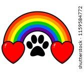 rainbow bridge with hearts   a...   Shutterstock .eps vector #1159584772