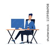 male businessman character... | Shutterstock .eps vector #1159586908