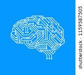 vector illustration of circuit... | Shutterstock .eps vector #1159587505
