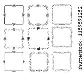 set of vector vintage frames on ... | Shutterstock .eps vector #1159591252