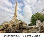 high obelisk in egyptian style  ... | Shutterstock . vector #1159596055