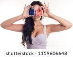 portrait of attractive girl... | Shutterstock . vector #1159606648