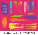 paint lines grunge collection....   Shutterstock .eps vector #1159606768