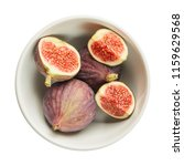 fresh raw ripe figs in ceramic... | Shutterstock . vector #1159629568