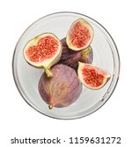 fresh raw ripe figs in glass... | Shutterstock . vector #1159631272