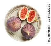 fresh raw ripe figs in ceramic... | Shutterstock . vector #1159632292