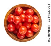 fresh ripe tomatoes in wood... | Shutterstock . vector #1159637035