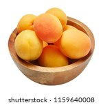 fresh ripe apricot in wood bowl ... | Shutterstock . vector #1159640008