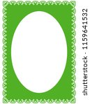 green oval photo frame border... | Shutterstock .eps vector #1159641532