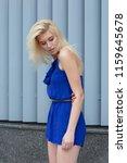 attractive blonde woman in... | Shutterstock . vector #1159645678