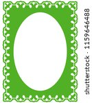 green oval photo frame border... | Shutterstock .eps vector #1159646488