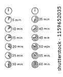hand drawn timer infographic... | Shutterstock .eps vector #1159652035