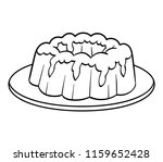 coloring book for children  cake | Shutterstock .eps vector #1159652428