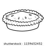 coloring book for children  pie | Shutterstock .eps vector #1159652452