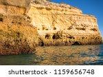 algarve seashore and caves.... | Shutterstock . vector #1159656748