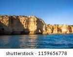 algarve seashore and caves.... | Shutterstock . vector #1159656778