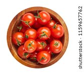 fresh ripe tomatoes in wood... | Shutterstock . vector #1159657762