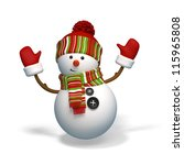 snowman isolated | Shutterstock . vector #115965808