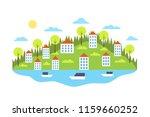 city landscape concept.... | Shutterstock .eps vector #1159660252